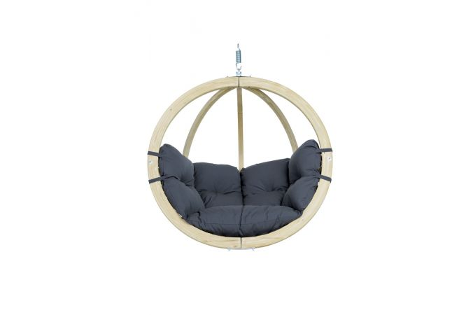 Hanging Chair Single 'Globo' Weatherproof Anthracite