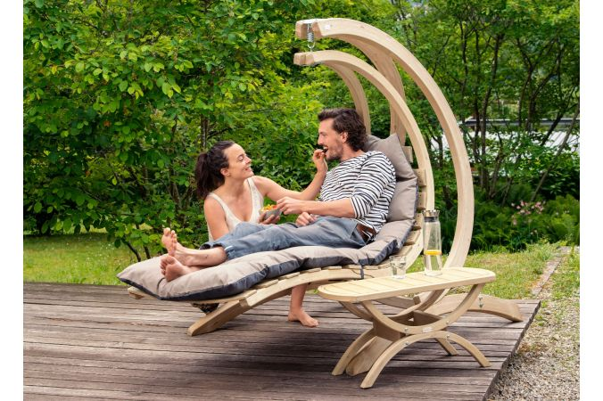 Hanging Chair Single 'Swing Lounger' Anthracite