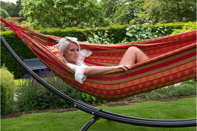 Hammock with Double Stand 'Arc & Chill' Happy