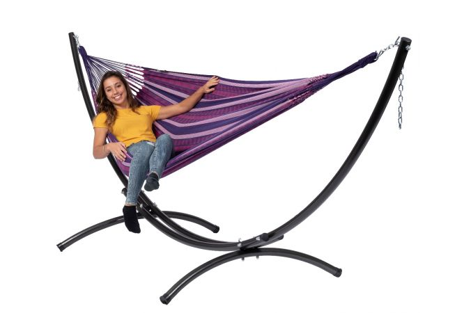 Hammock with Double Stand 'Arc & Chill' Love