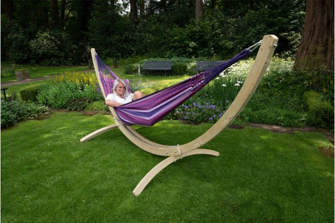 Hammock with Double Stand 'Wood & Chill' Love