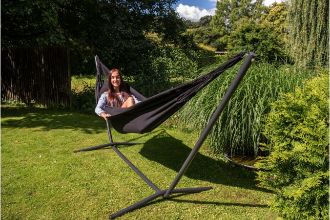 Hammock with Single Stand 'Easy & Classic' Black