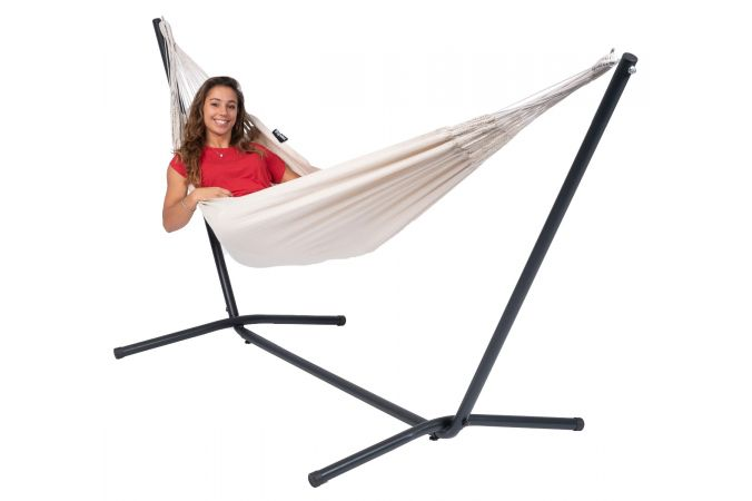 Hammock with Single Stand 'Easy & Classic' White