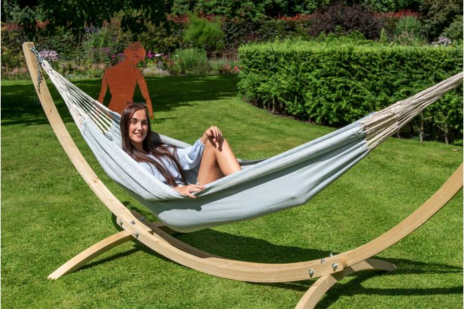 Hammock Single 'Natural' Blue