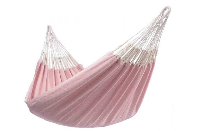 Hammock with Single Stand 'Wood & Natural' Pink