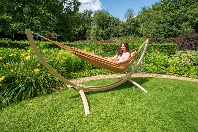 Hammock Single 'Plain' Mocca