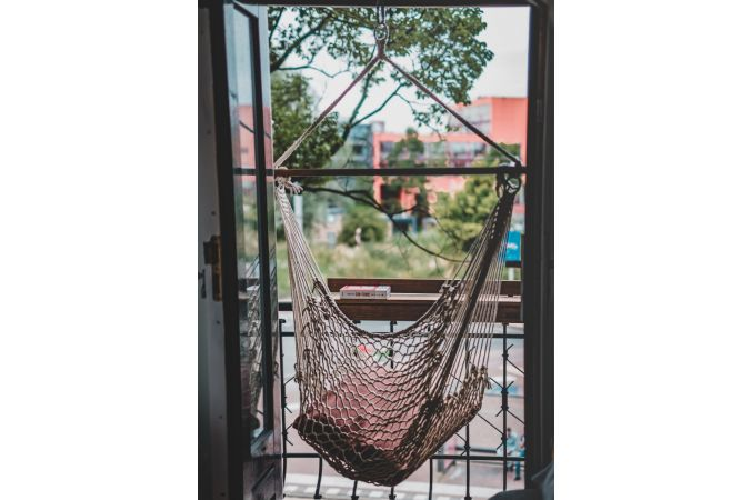 Hanging Chair Single 'Rope' Natura