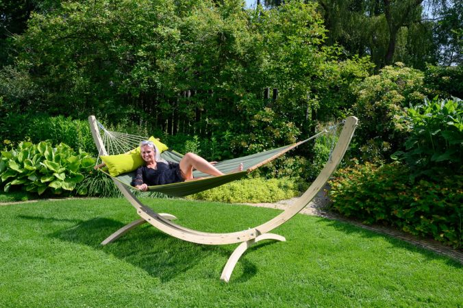 Hammock Stand Double 'Wood' Second Chance