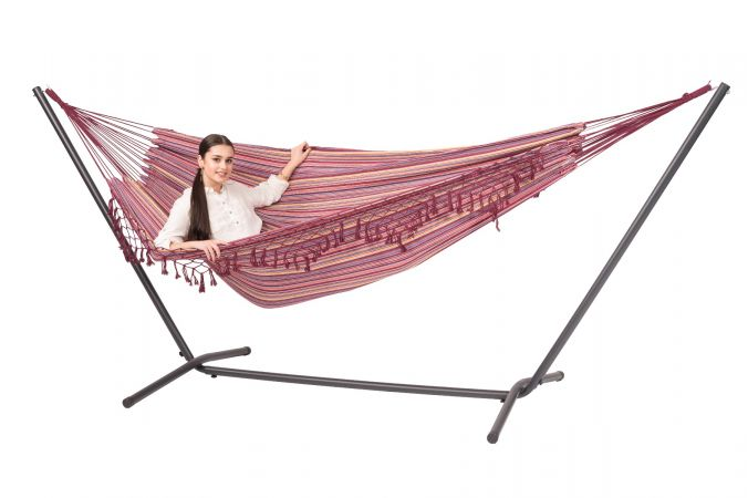 Hammock with Double Stand 'Easy & Tortuga' Andalusia