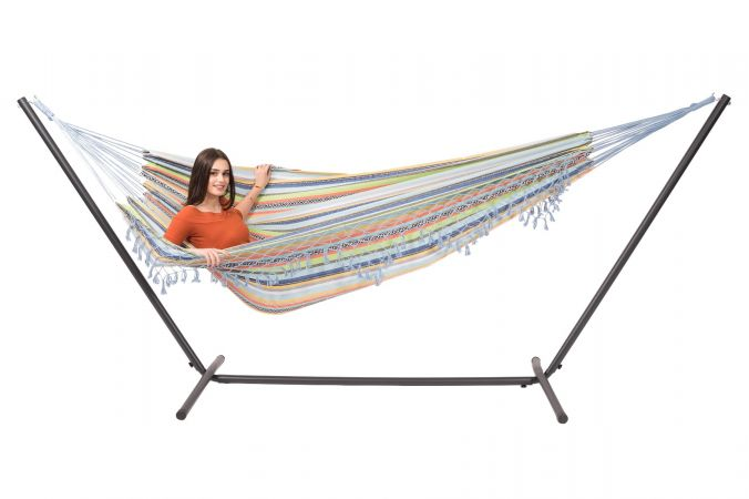 Hammock with Double Stand 'Easy & Tortuga' Izmir