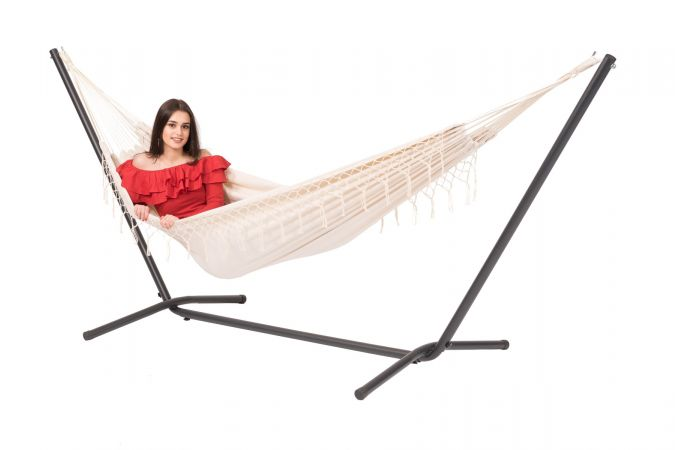 Hammock with Double Stand 'Easy & Tortuga' Natura