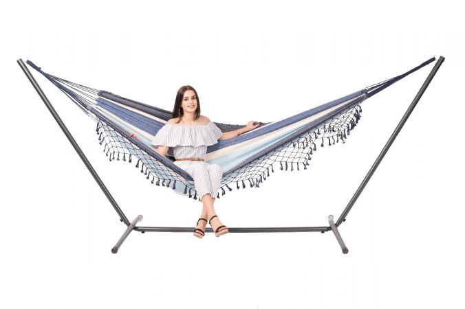 Hammock with Double Stand 'Easy & Tortuga' Sea