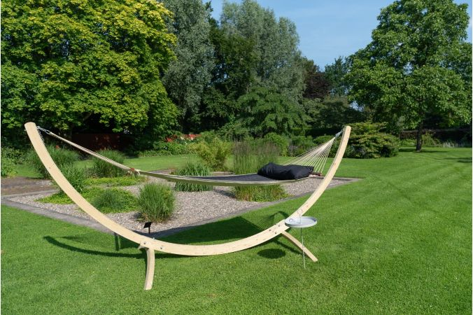 Hammock with Family Stand 'Wood & Vegas' Black