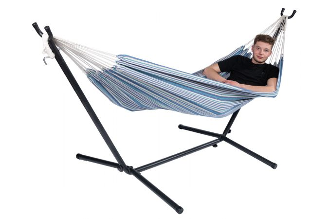 Hammock with Single Stand 'Rustic' Single