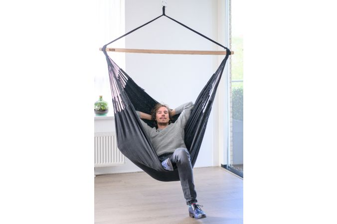 Hanging Chair Double 'Luxe' Black