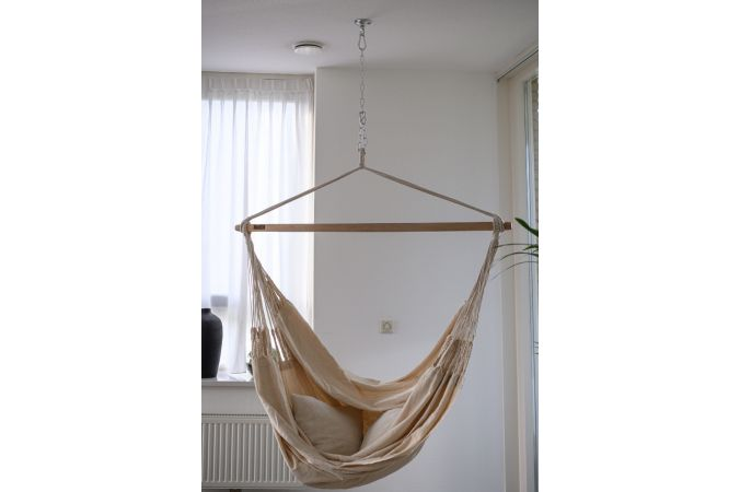Hanging Chair Double 'Luxe' White