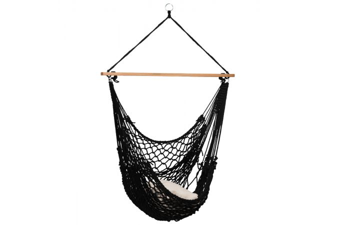 Hanging Chair Single 'Rope' Black