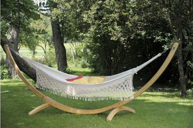 Hammock with Family Stand 'Wood & Rio' Natura
