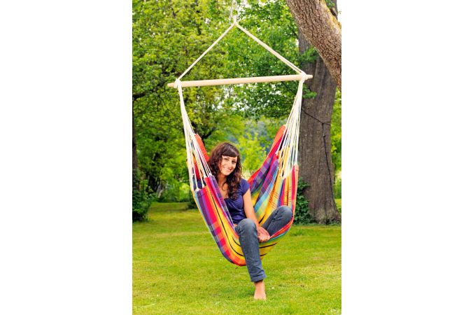 Hanging Chair Single 'Brasil' Rainbow