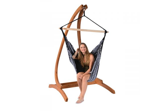 Hanging Chair Single 'Comfort' Black White