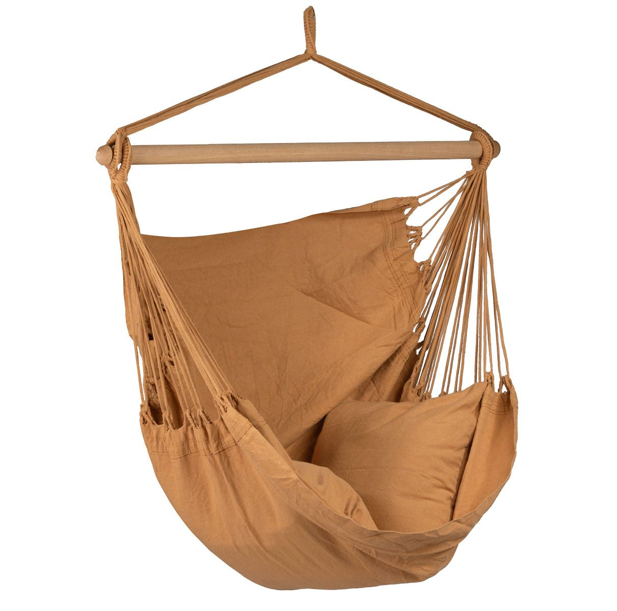 Hanging Chair Single Organic Mocca Brown Hammockgiant Co Uk