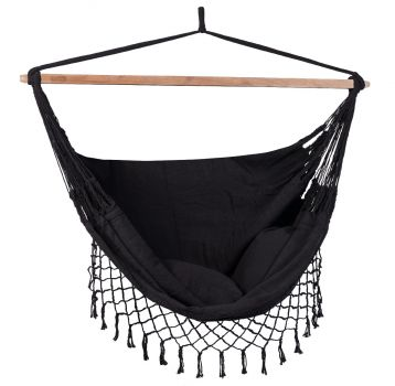 Hanging Chair Double 'DeLuxe' Black
