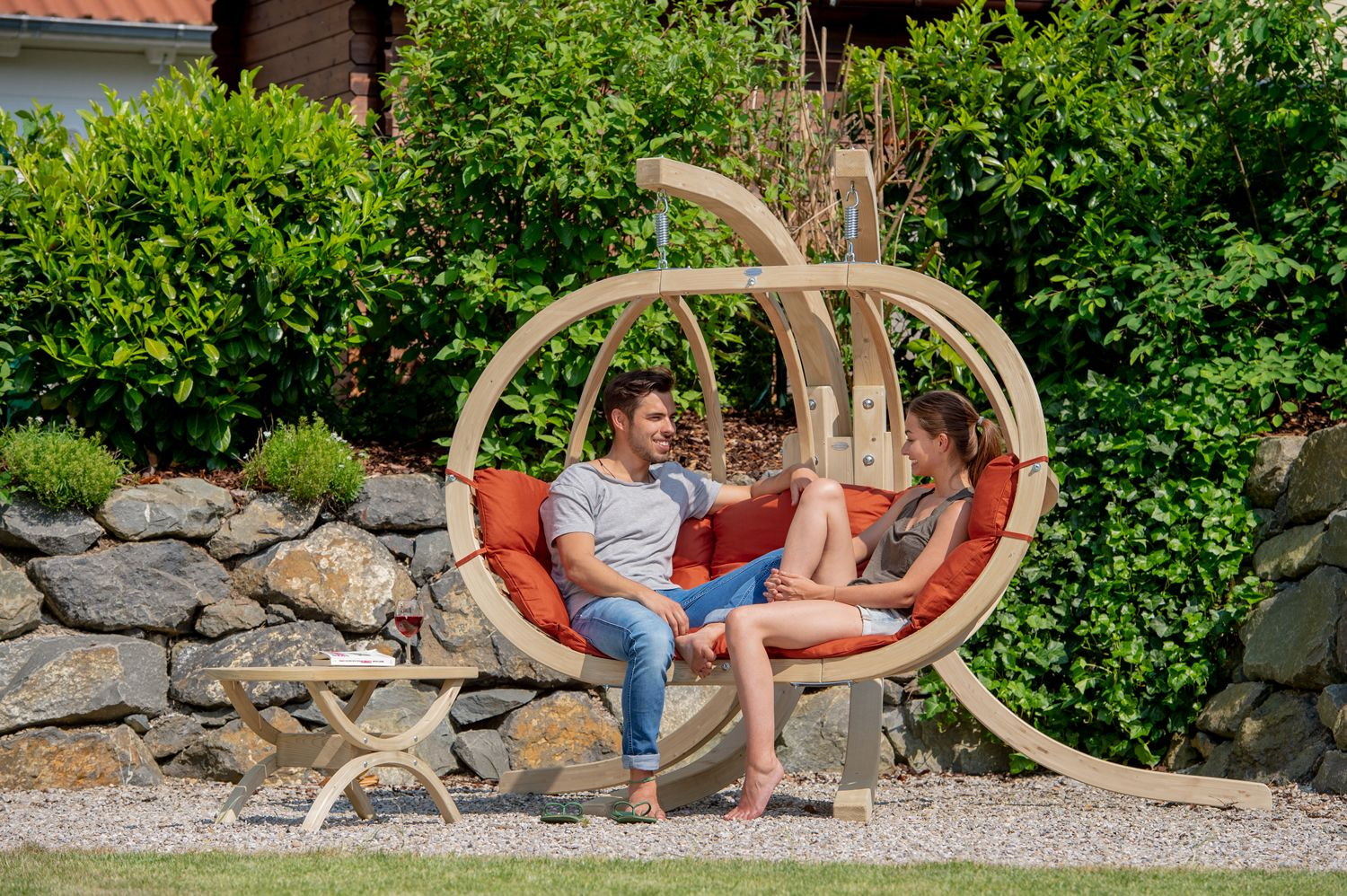 Hanging Chair With Stand Globo Royal Terracotta Orange Hammockgiant Co Uk