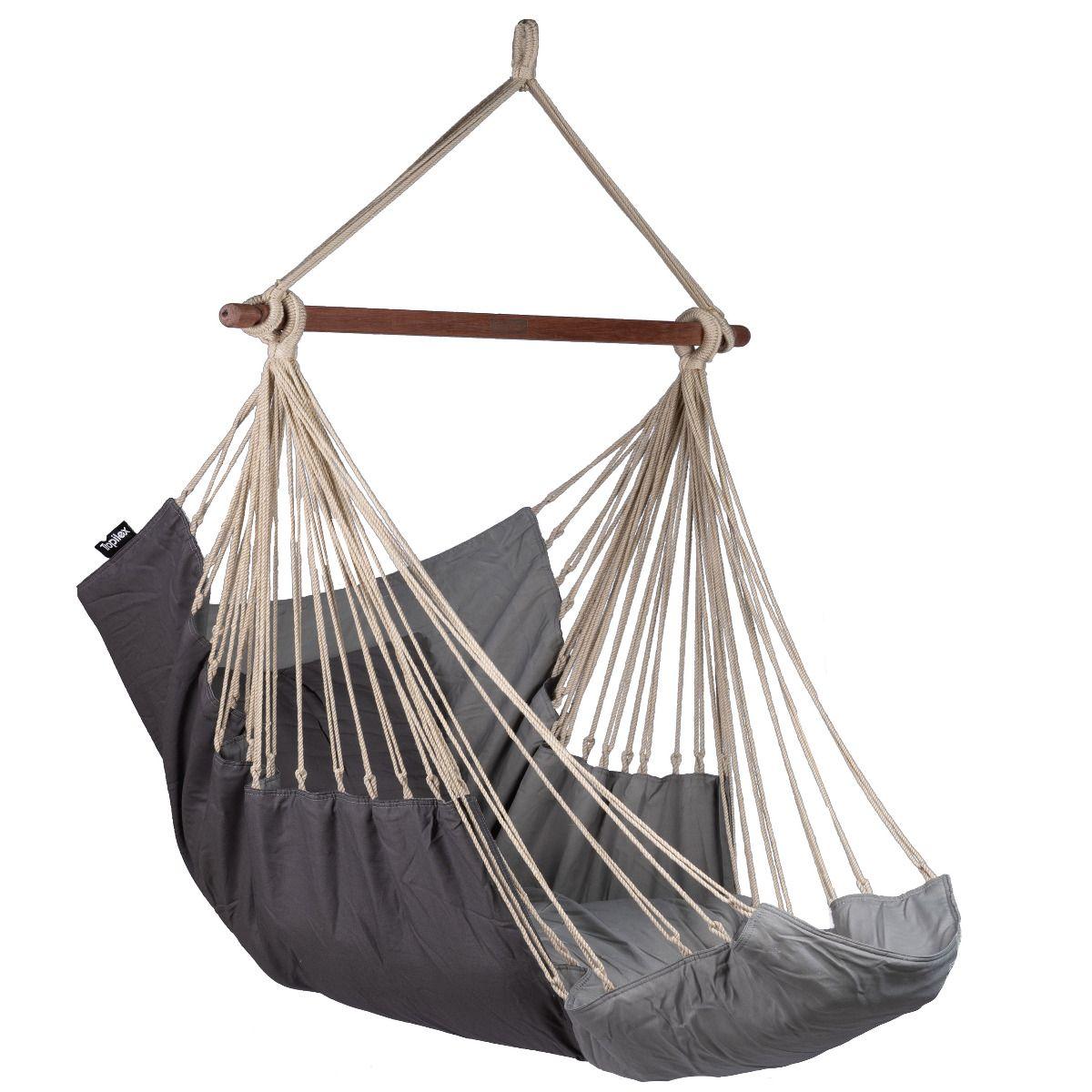 Hanging Chair Single Sereno Grey Grey Hammockgiant Co Uk