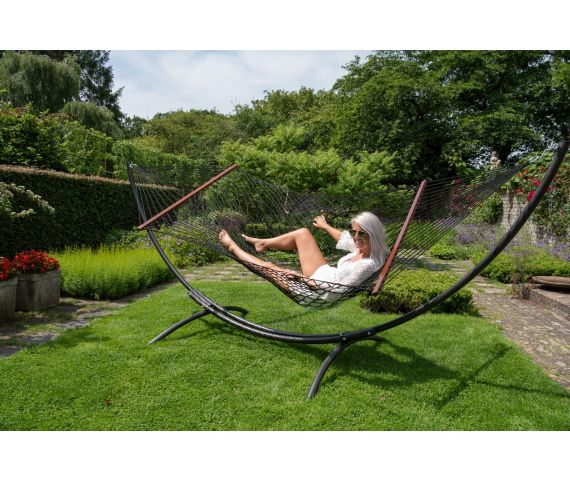 Hammock with Family Stand 'Arc & Rope' Black