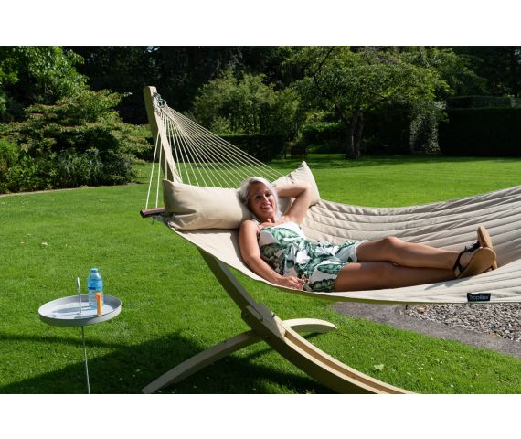 Hammock with Family Stand 'Wood & Vegas' Taupe