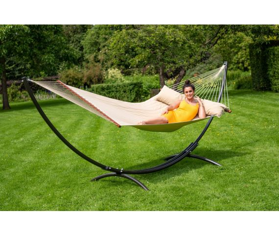 Hammock with Family Stand 'Arc & Vegas' Taupe