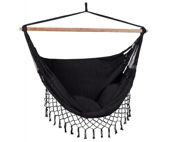 Hanging Chair Double 'DeLuxe' Black